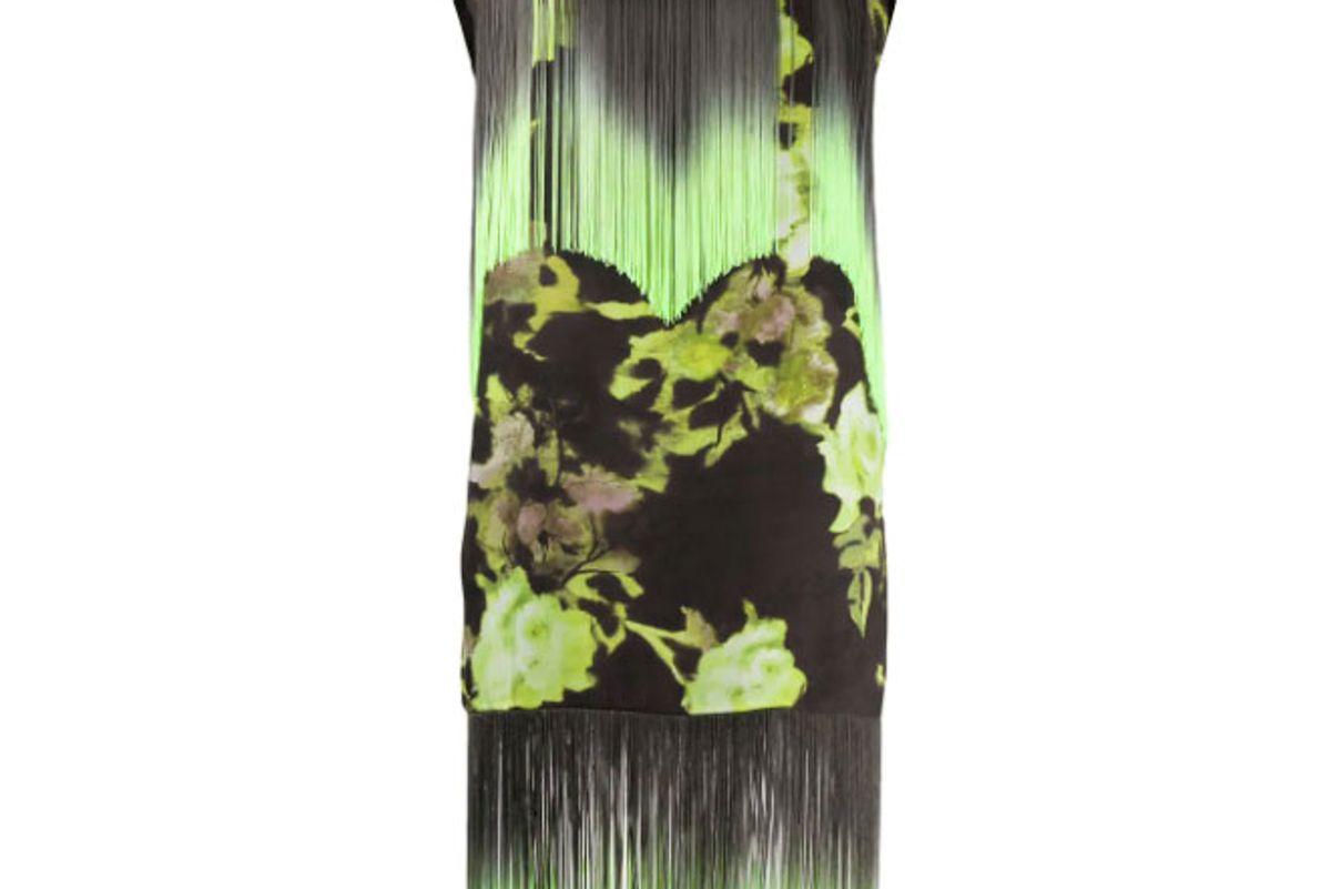 msgm floral print fringe dress