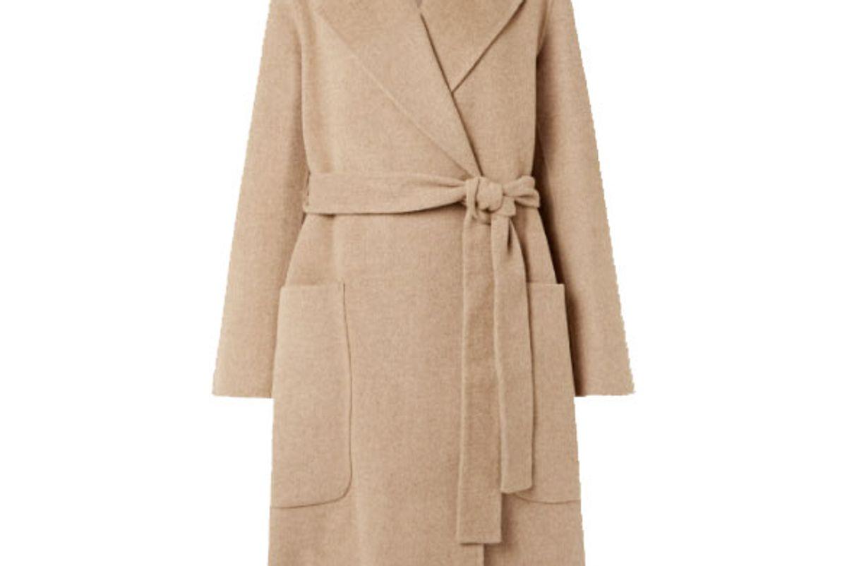 acne studios belted wool coat