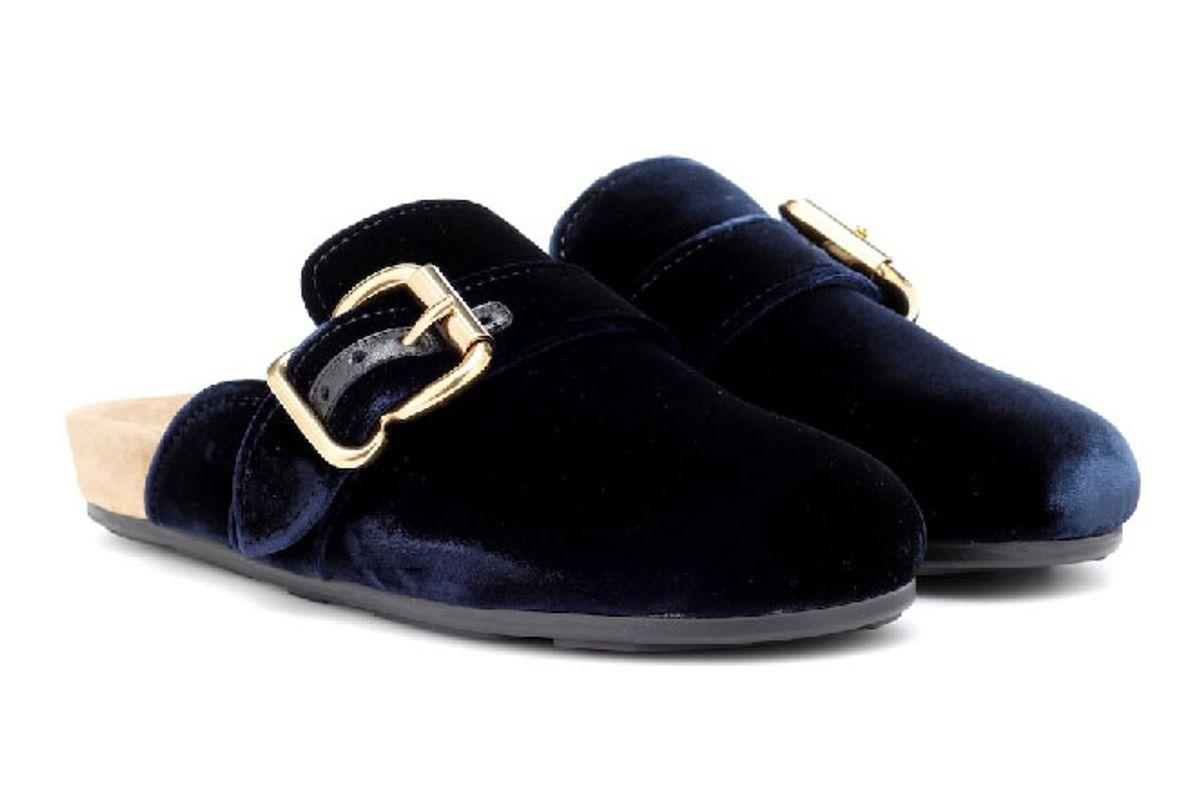 prada velvet slippers
