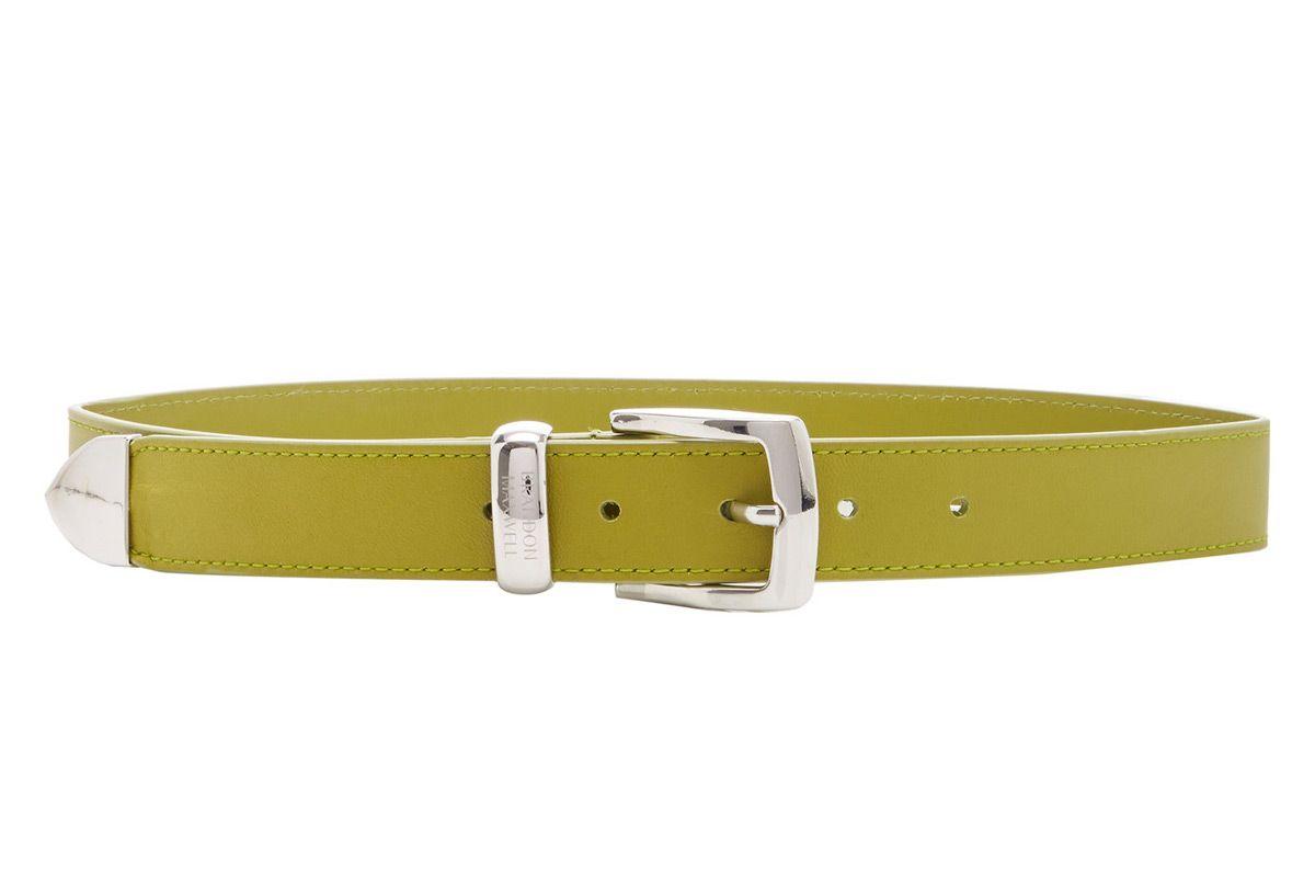 brandon maxwell classic leather belt