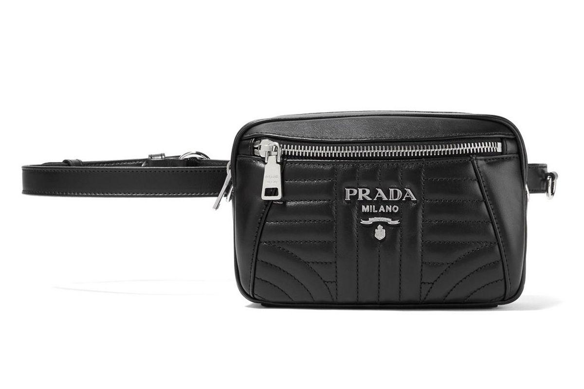 prada quilted leather belt bag