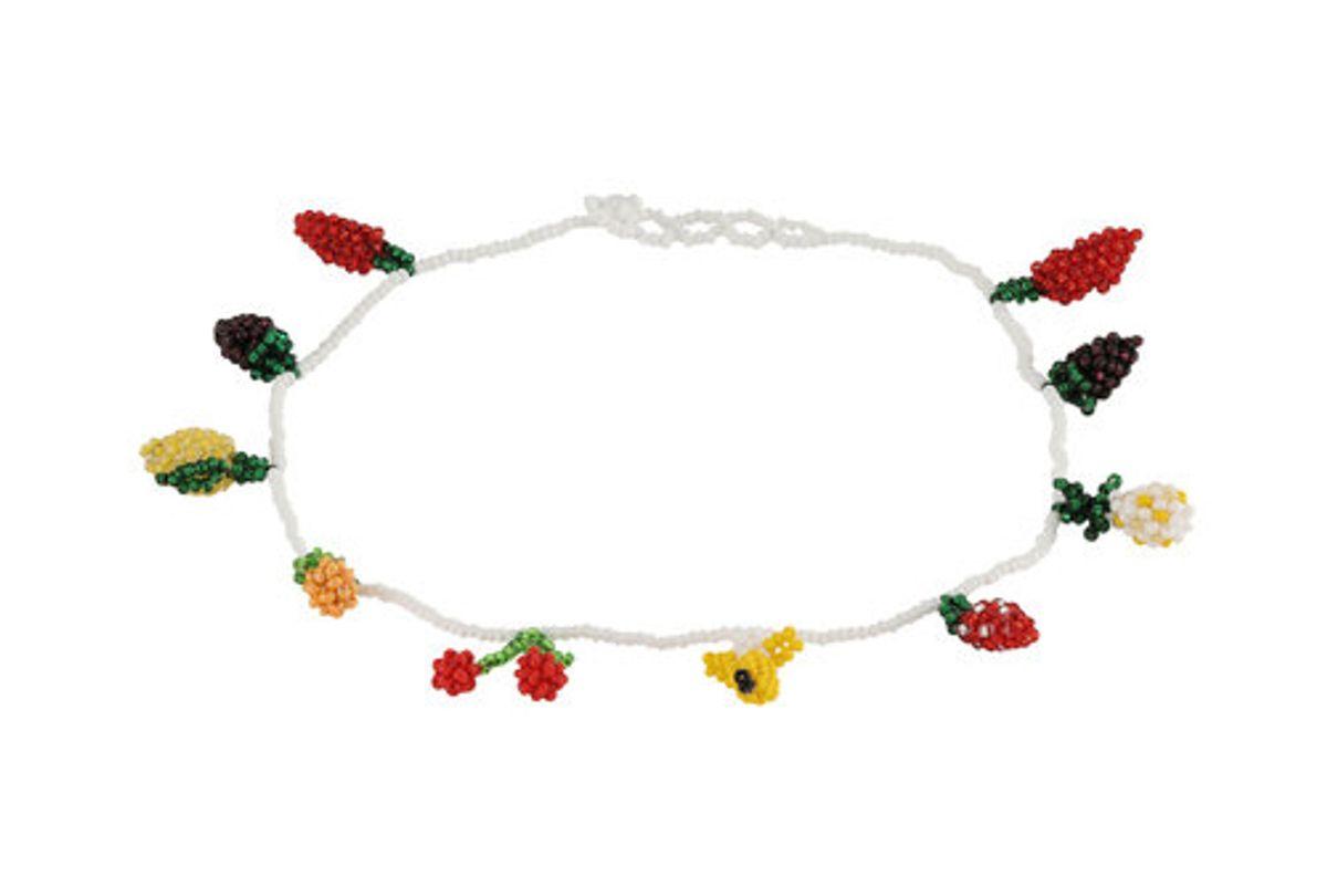 pura utz beaded fruit salad choker necklace