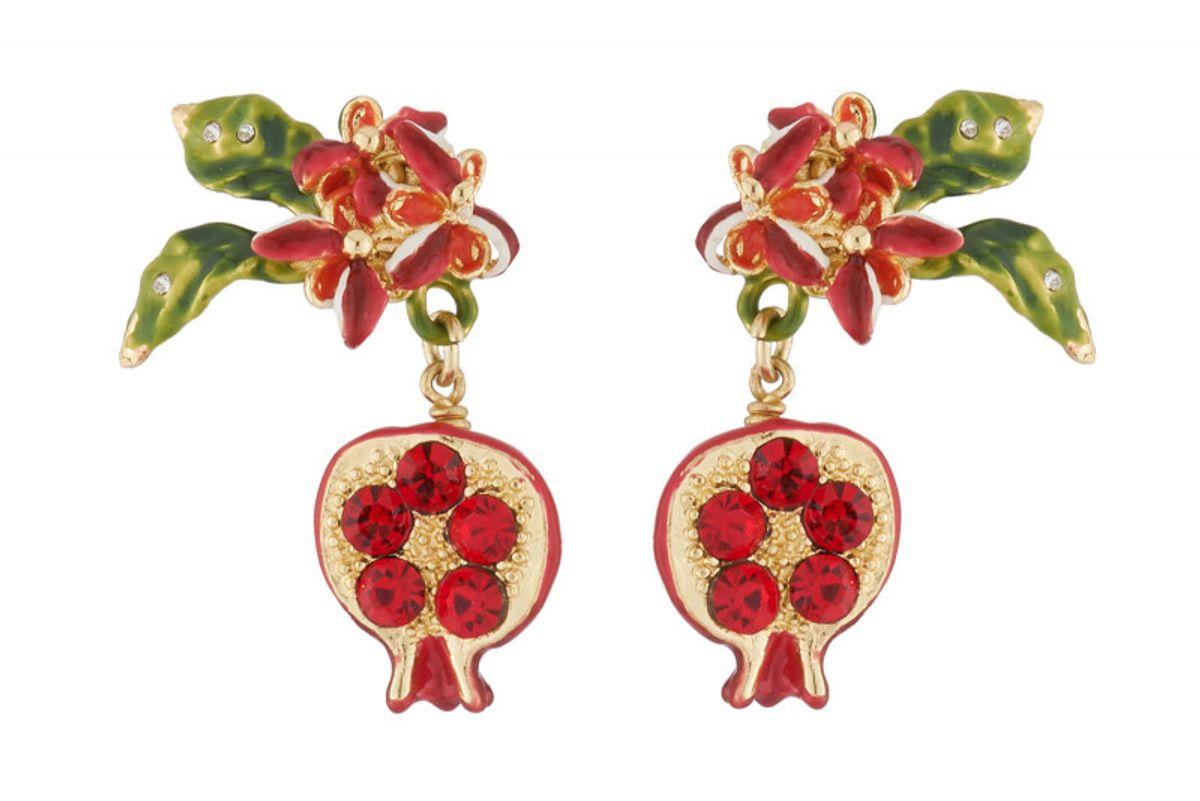 la maison les nereides pomegranate dangling stud earrings