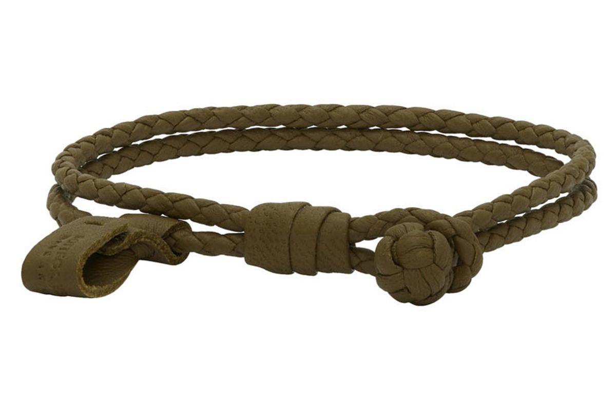 bottega veneta green braided bracelet