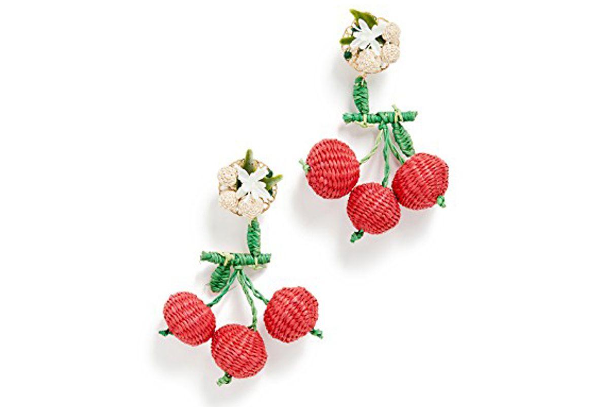 mercedes salazar cherry cultured pearl earrings