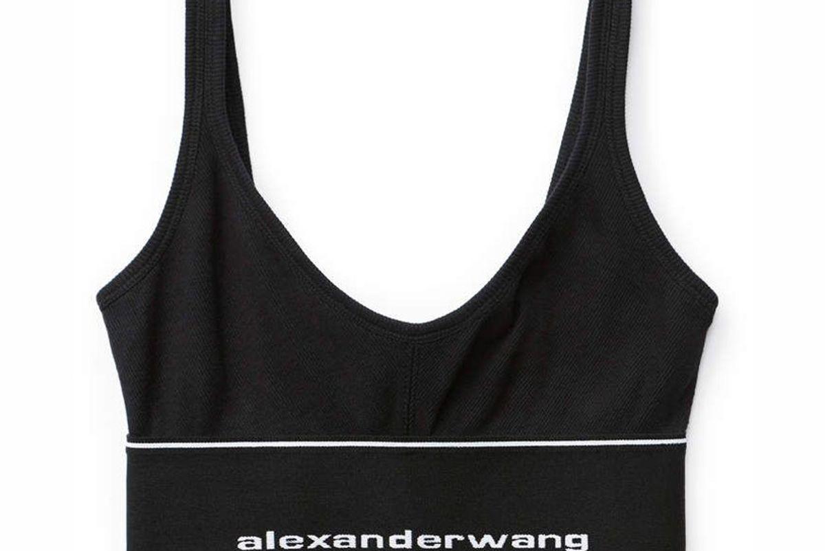 alexander wang logo elastic bra