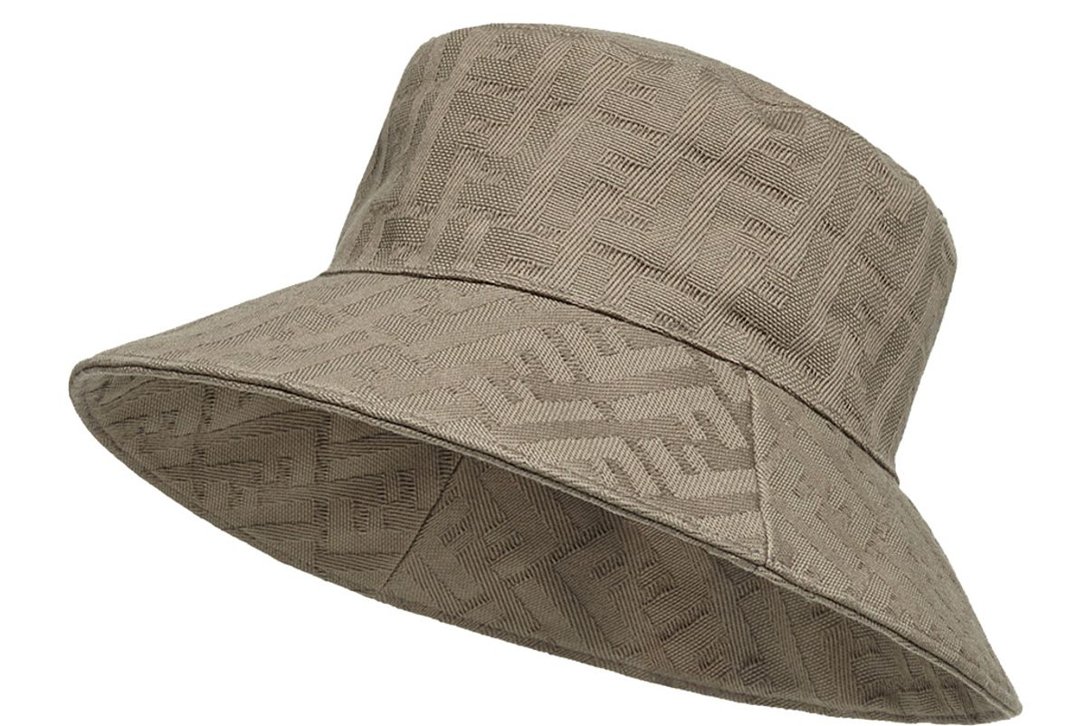 fendi beige canvas bucket hat