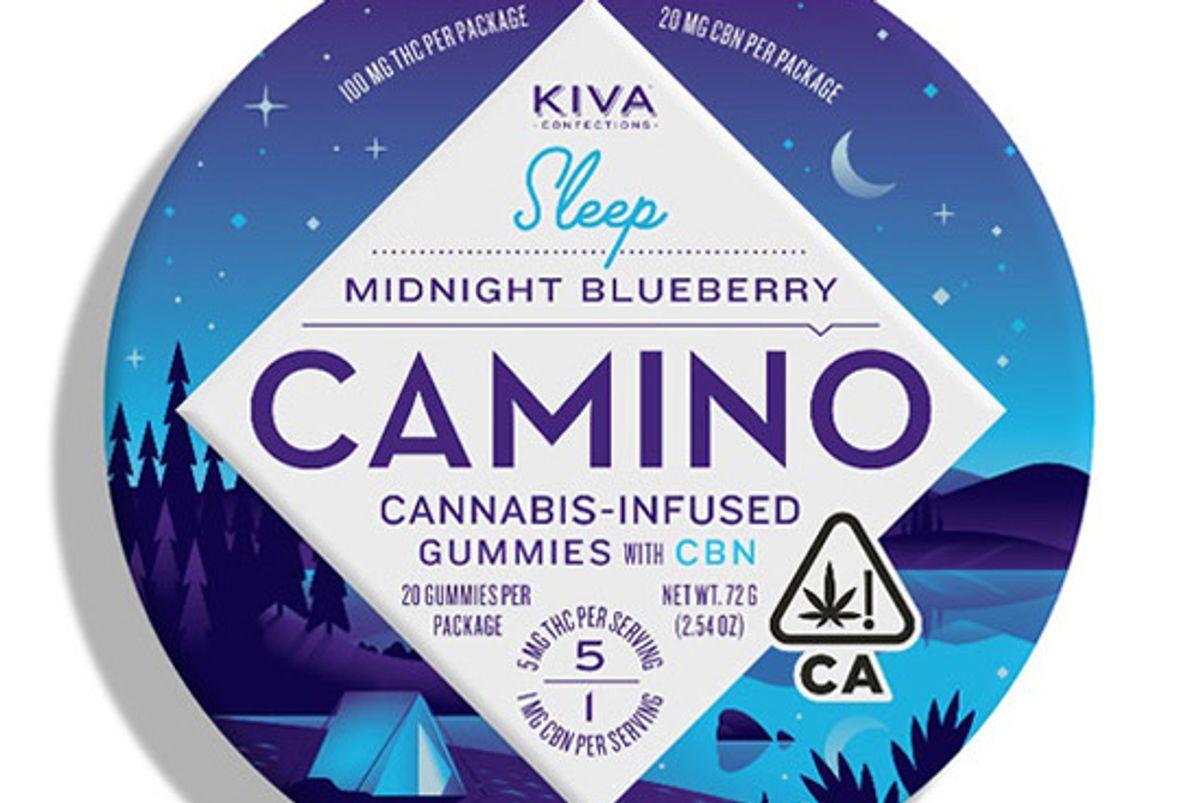 kiva midnight blueberry camino gummies