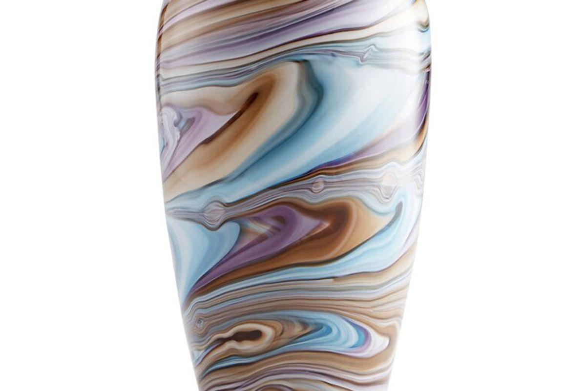 cyan design borealis table vase