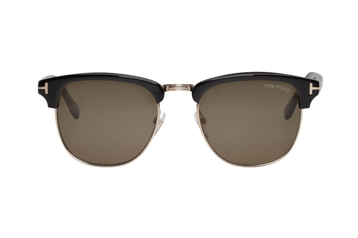Black & Gold Henry Sunglasses
