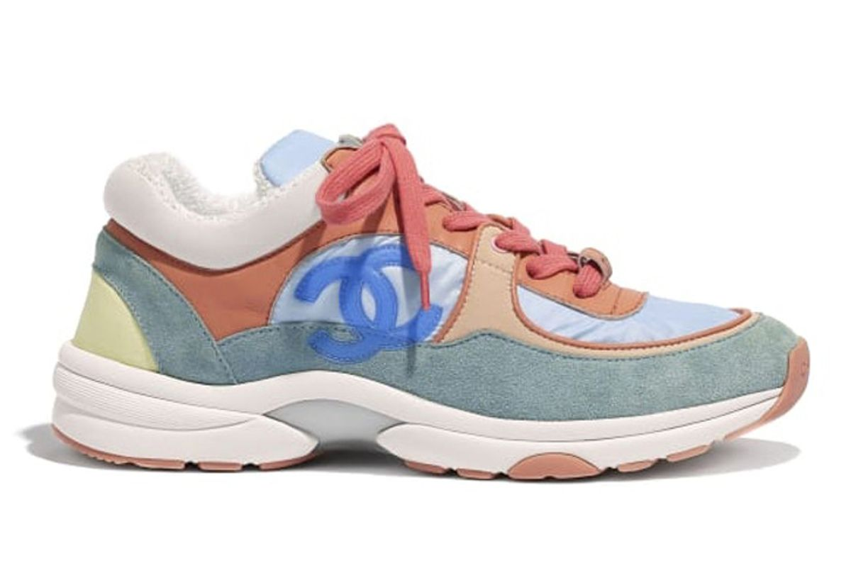chanel low top trainer cc sneaker