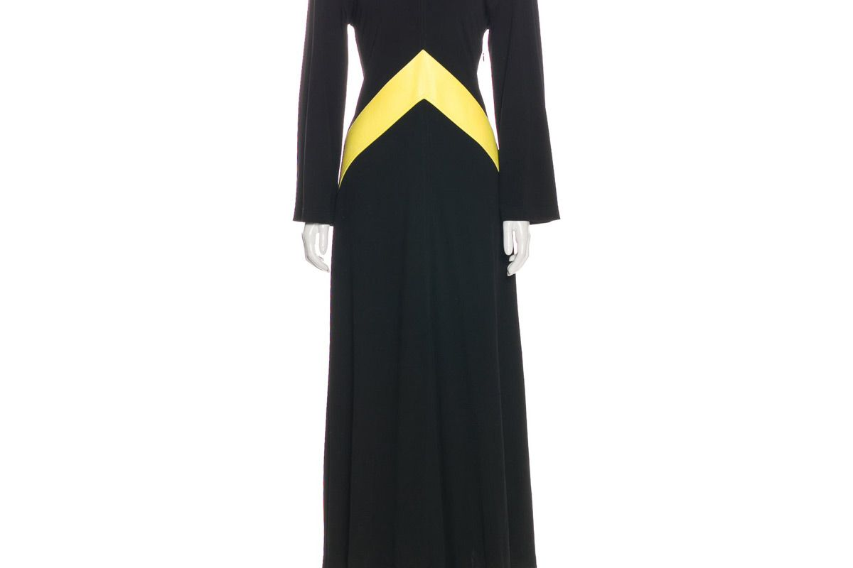 celine long sleeve maxi dress