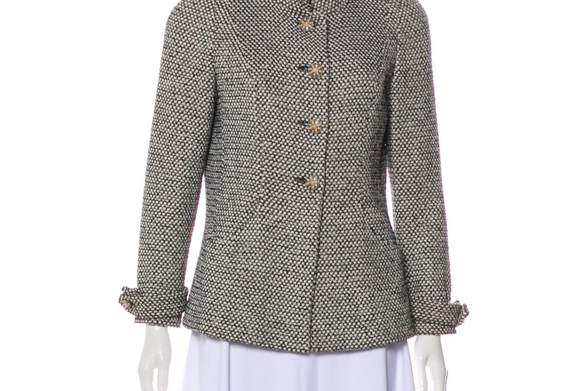 chanel paris bombay metallic tweed jacket