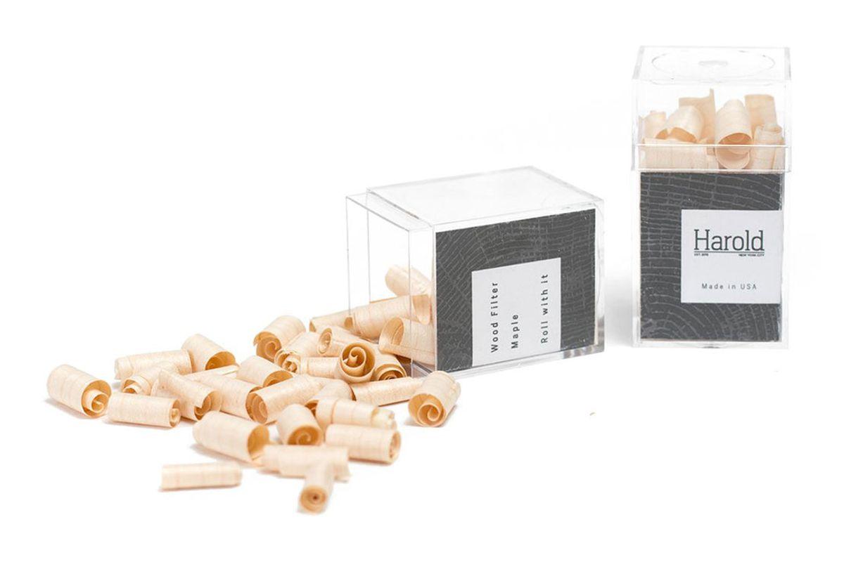 harold natural wood rolled smoke filter