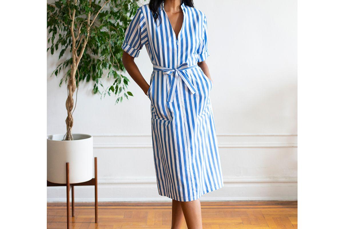 loup striped alma dress