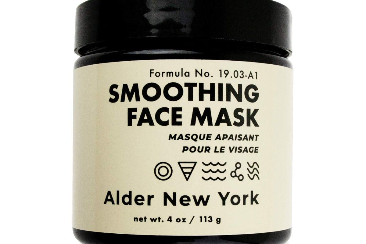alder new york smoothing face mask fine line reducing hyaluronic acid and sea fennel exfoliating mud face mask