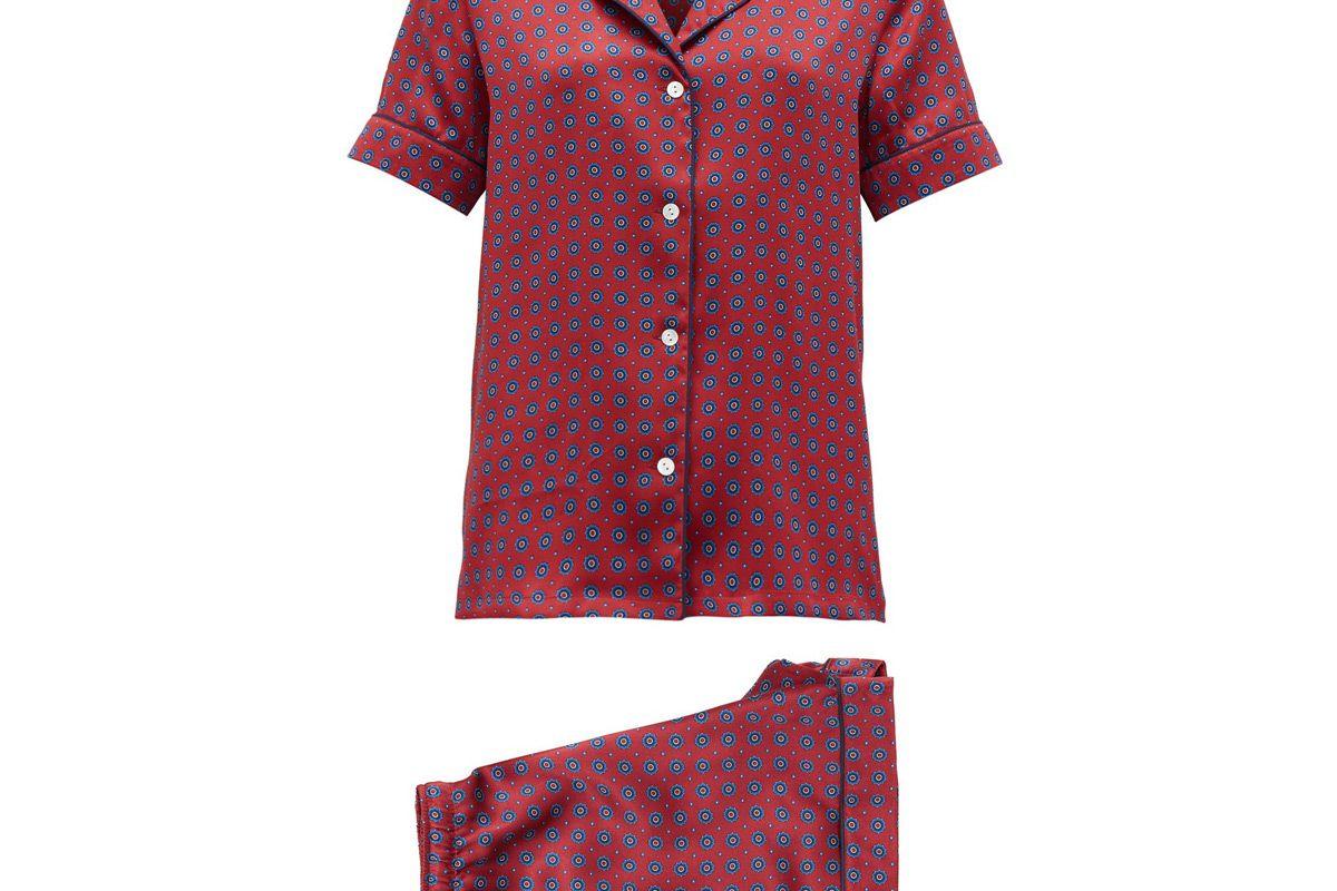 derek rose brindisi silk pyjamas