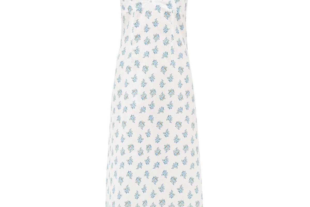 emilia wickstead minnie floral print cotton voile nightdress