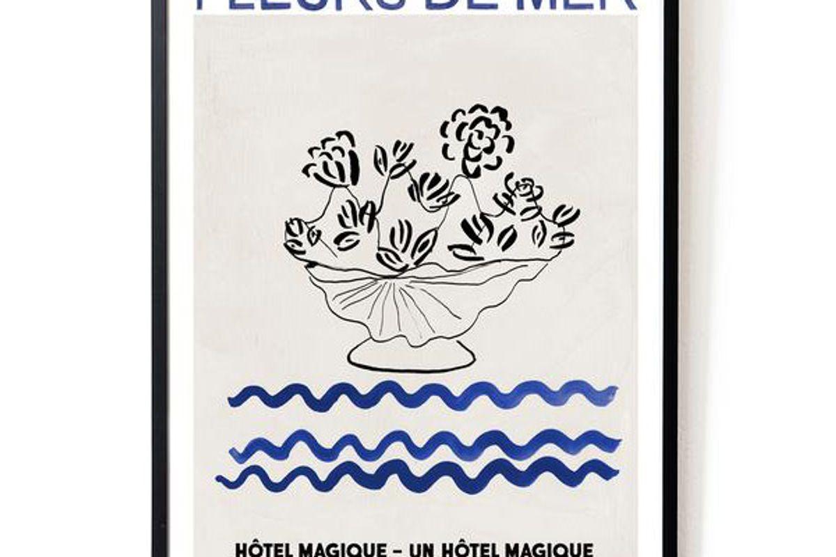 hotel magique fleurs de mer art print