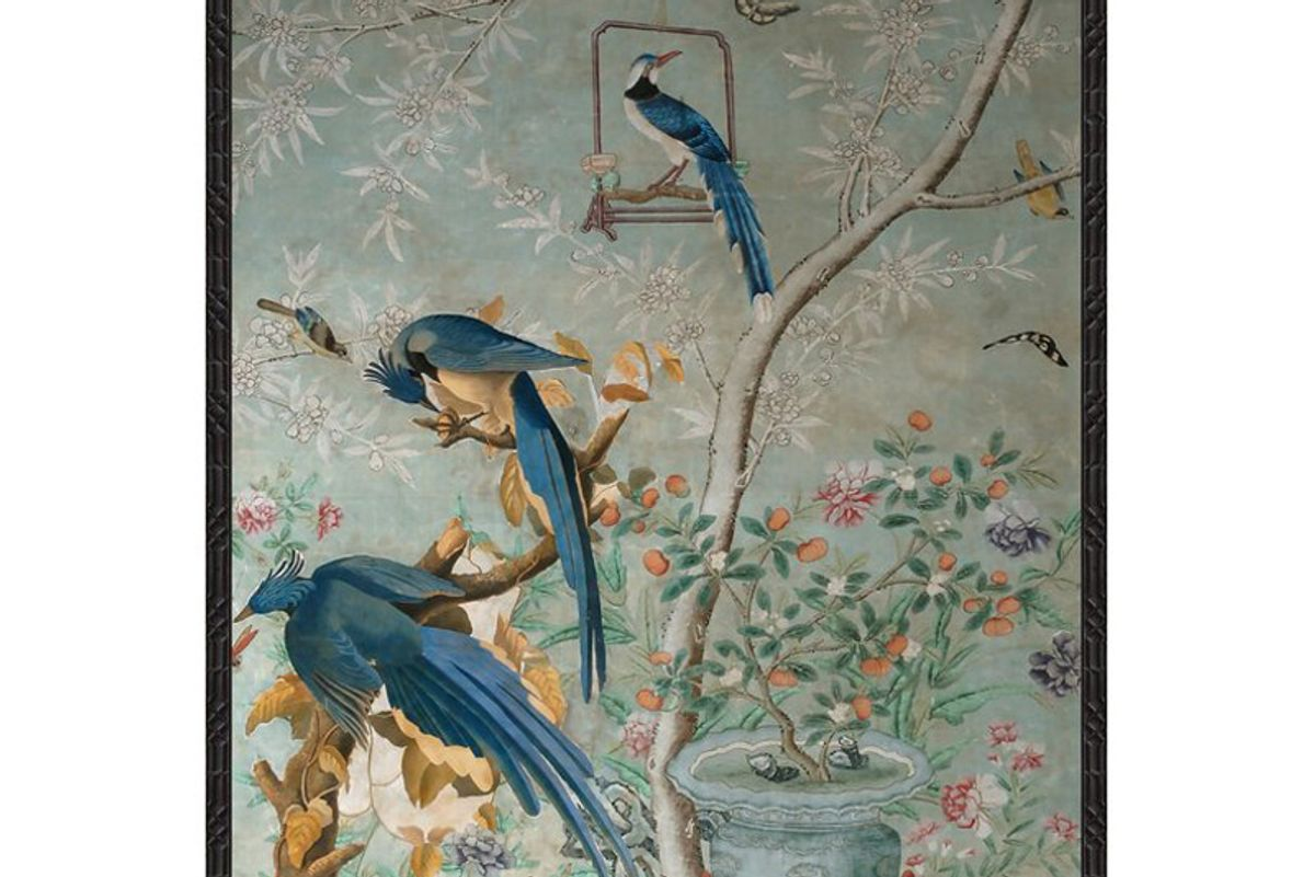 soicher marin chinoiserie collage framed painting