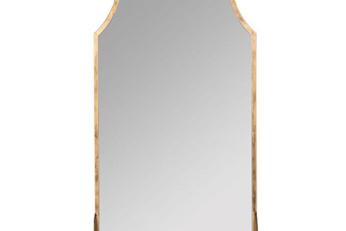 west elm metal arch shelf mirror