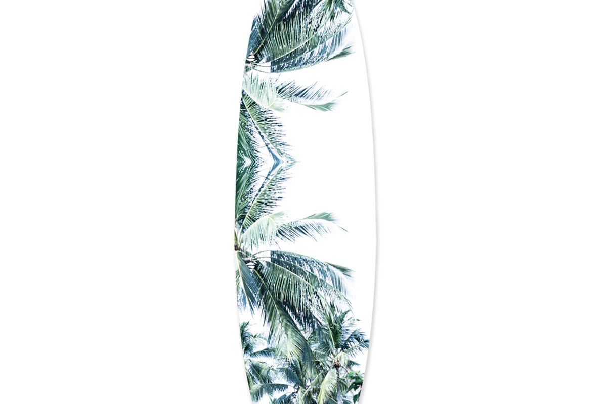the oliver gal artist co palm trees surfboard original art