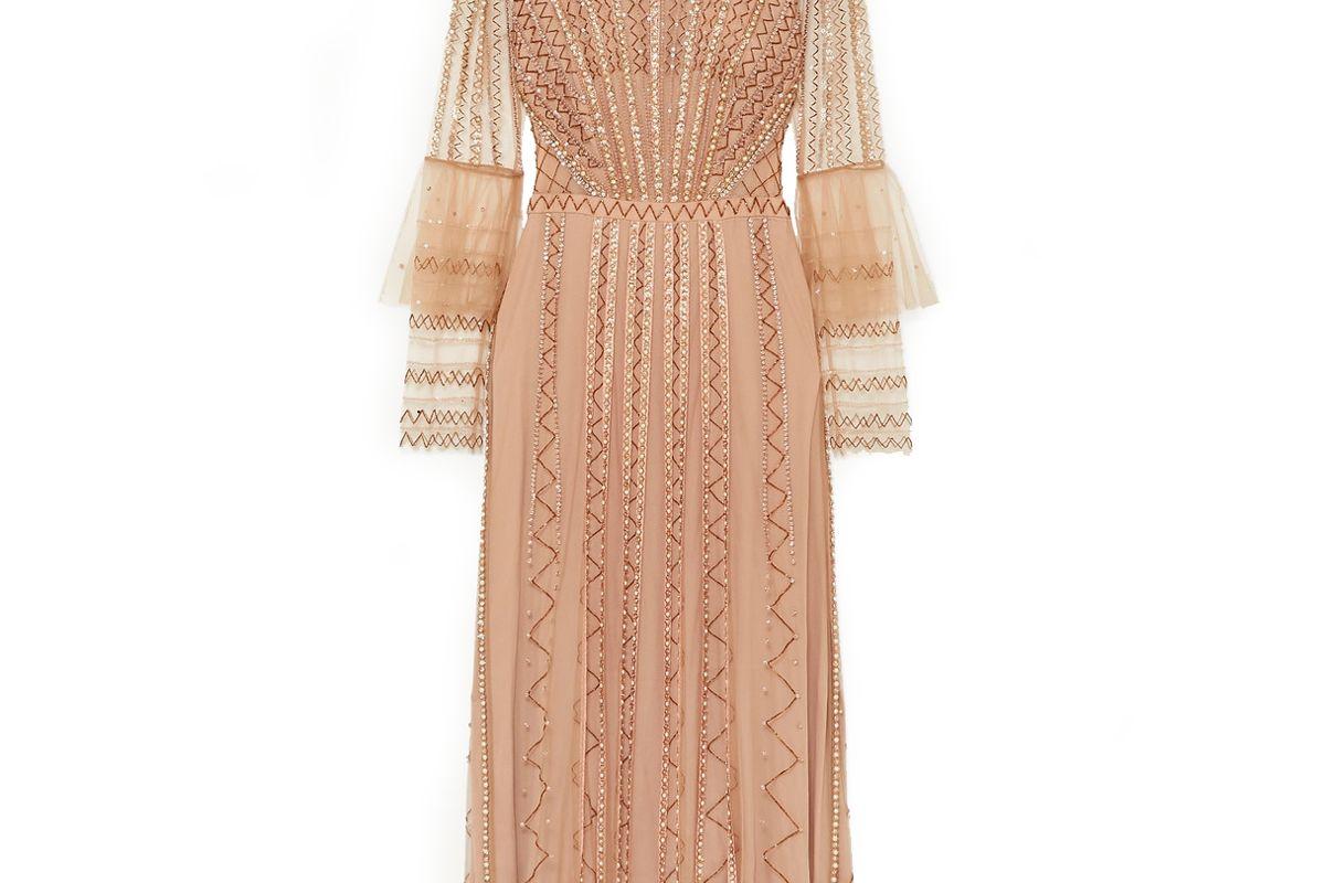temperley london queenie embellished tulle midi dress