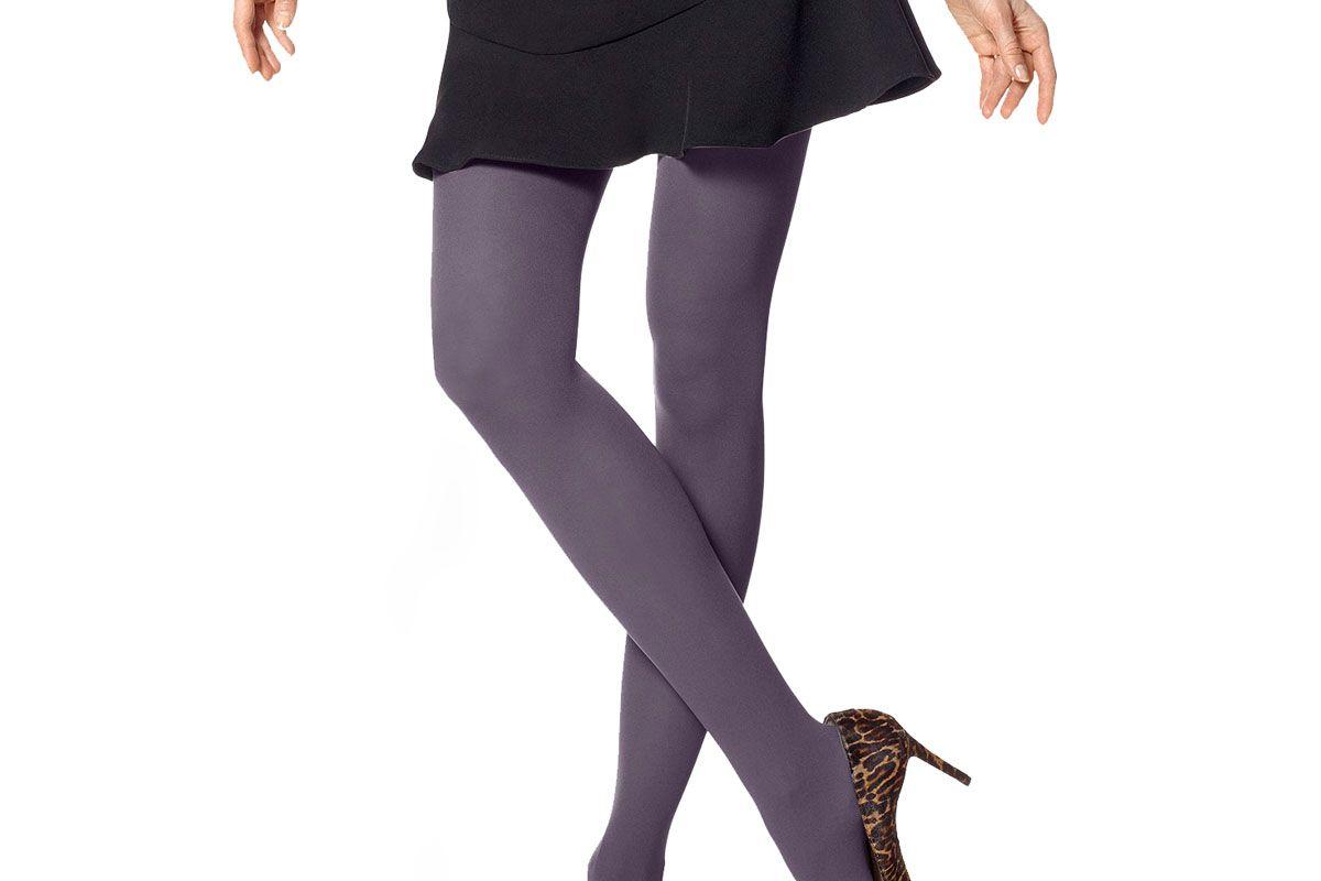hue opaque tights smoky purple