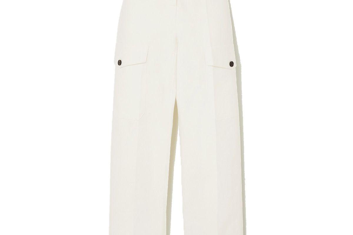 lvir cropped cotton straight leg pants