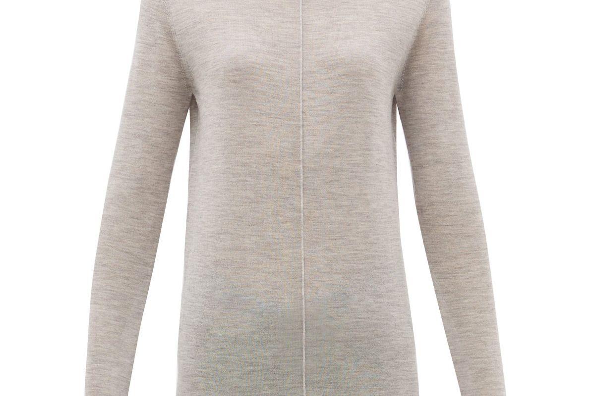 jil sander high neck cashmere sweater
