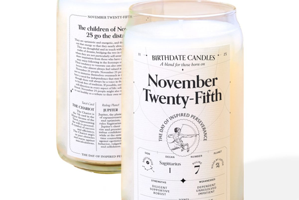 birthdate candles the november twenty fifth candle