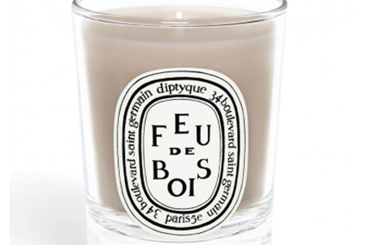 diptyque feu de bois wood fire small candle