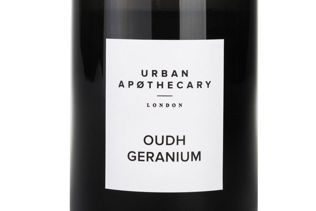 urban apothecary oudh geranium candle