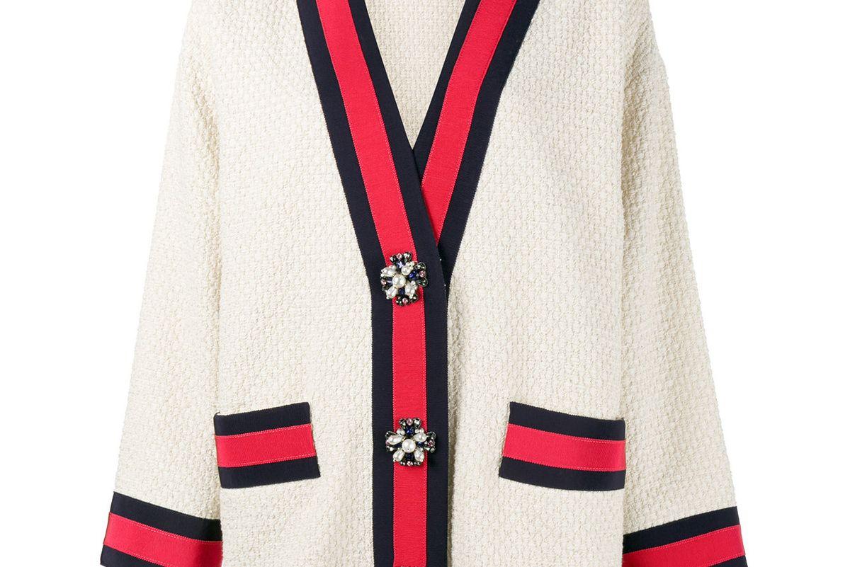 Embellished Oversized Cardigan