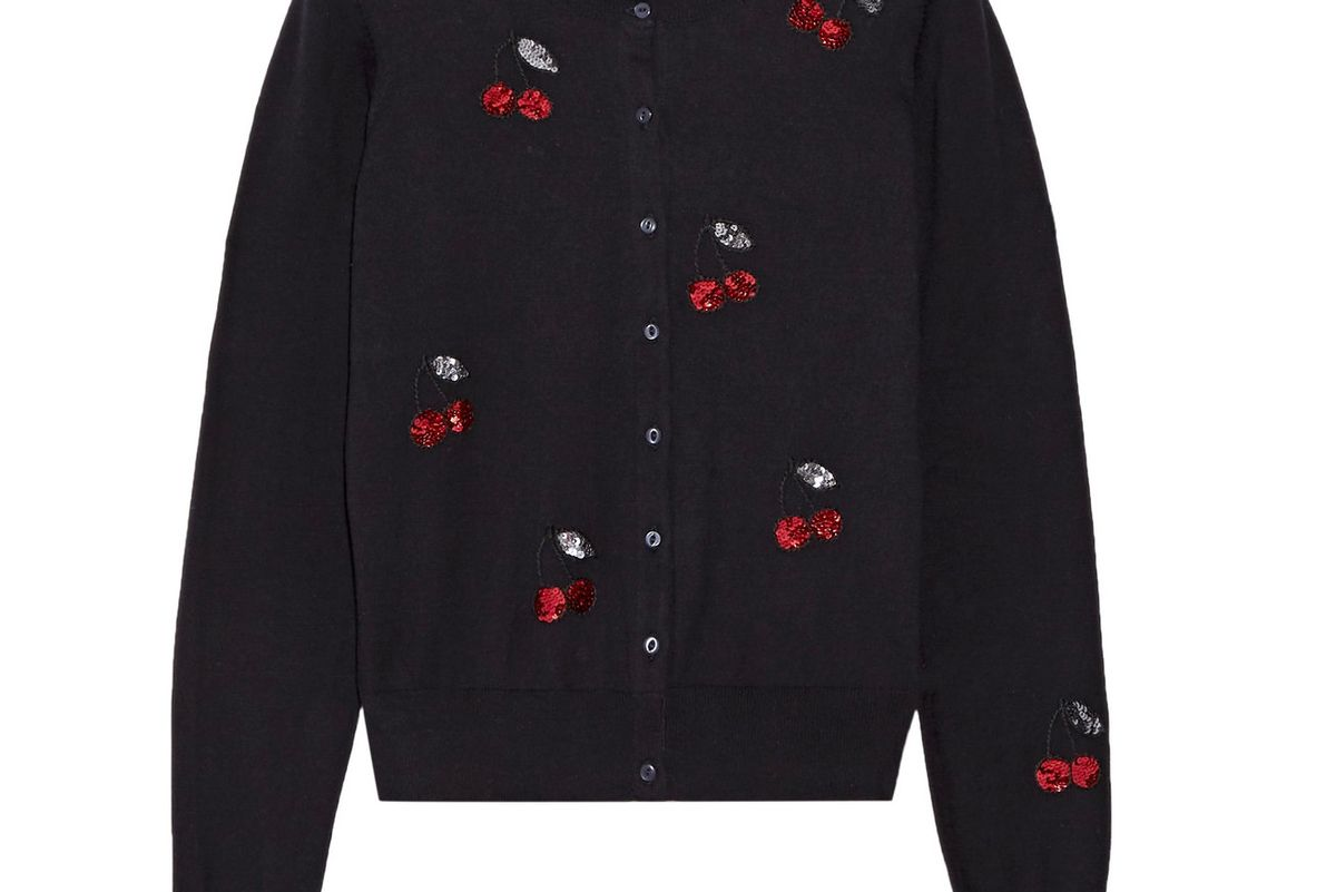 Sequin-Embellished Cotton Cardigan