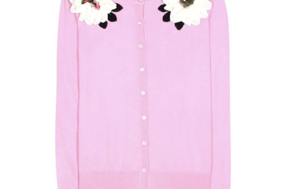 Embellished Cashmere and Silk Cardigan