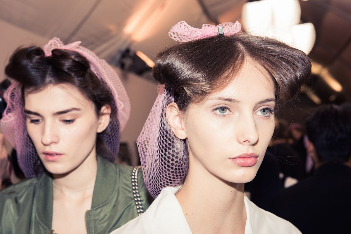 Backstage at Dior's Fall 2017 Show