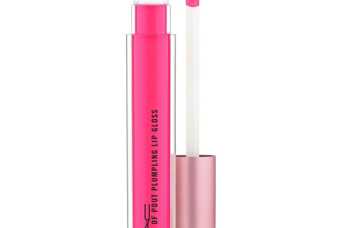mac cosmetics mac petal power plenty of pout plumping lip gloss