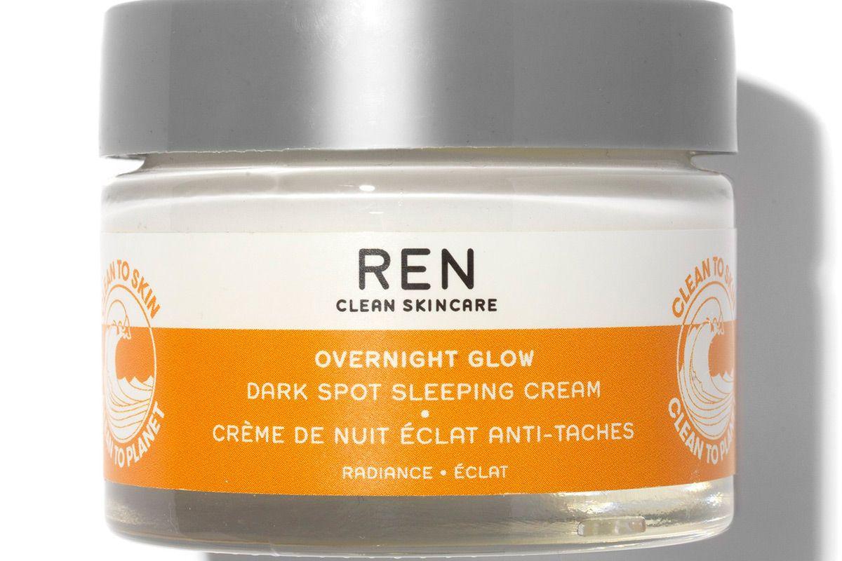 ren clean skincare overnight glow dark spot sleeping cream