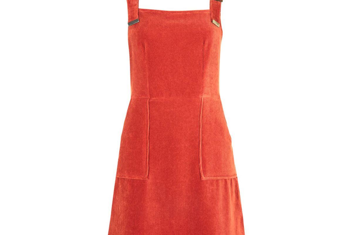 Cord Velvet Pinafore Dress