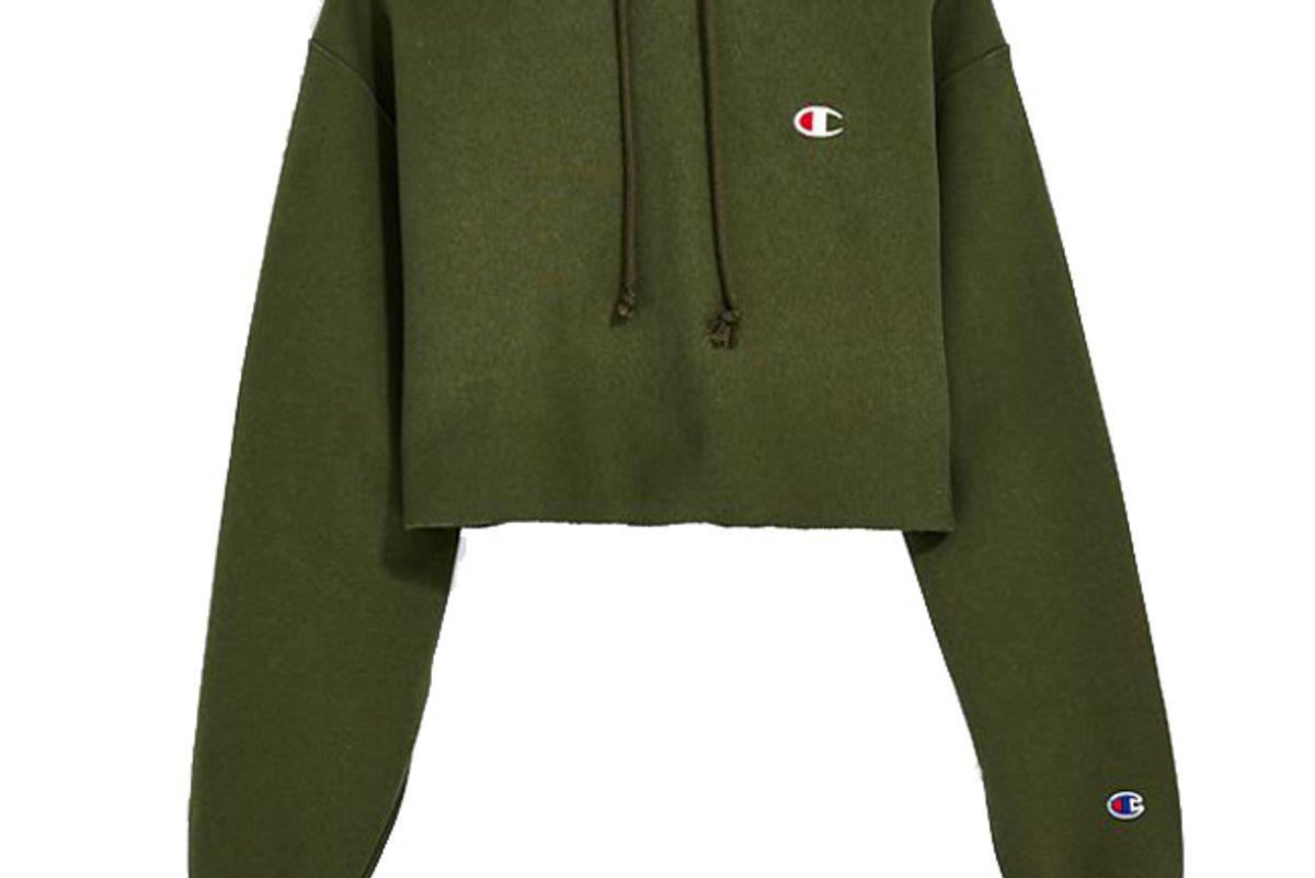 champion reverse weave cropped hoodie sweatshirt