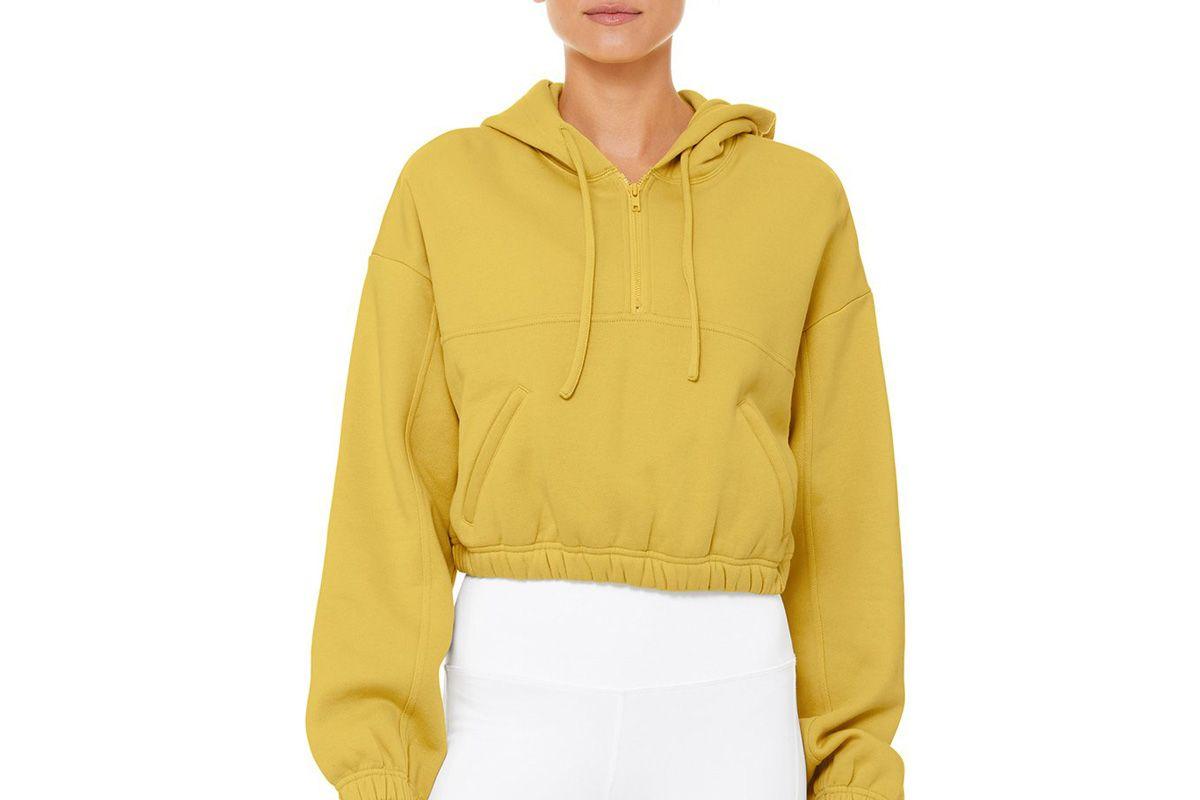 alo yoga stadium half zip hoodie