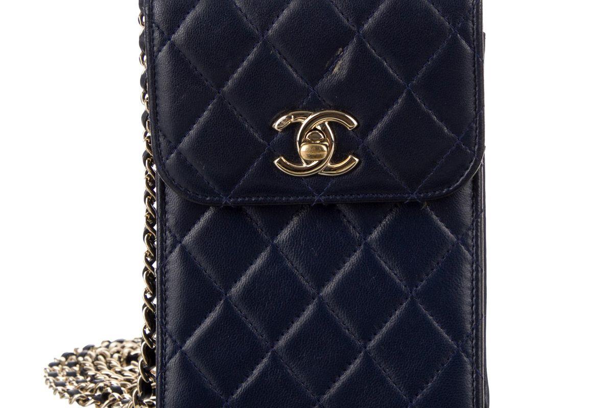 chanel phone holder crossbody bag