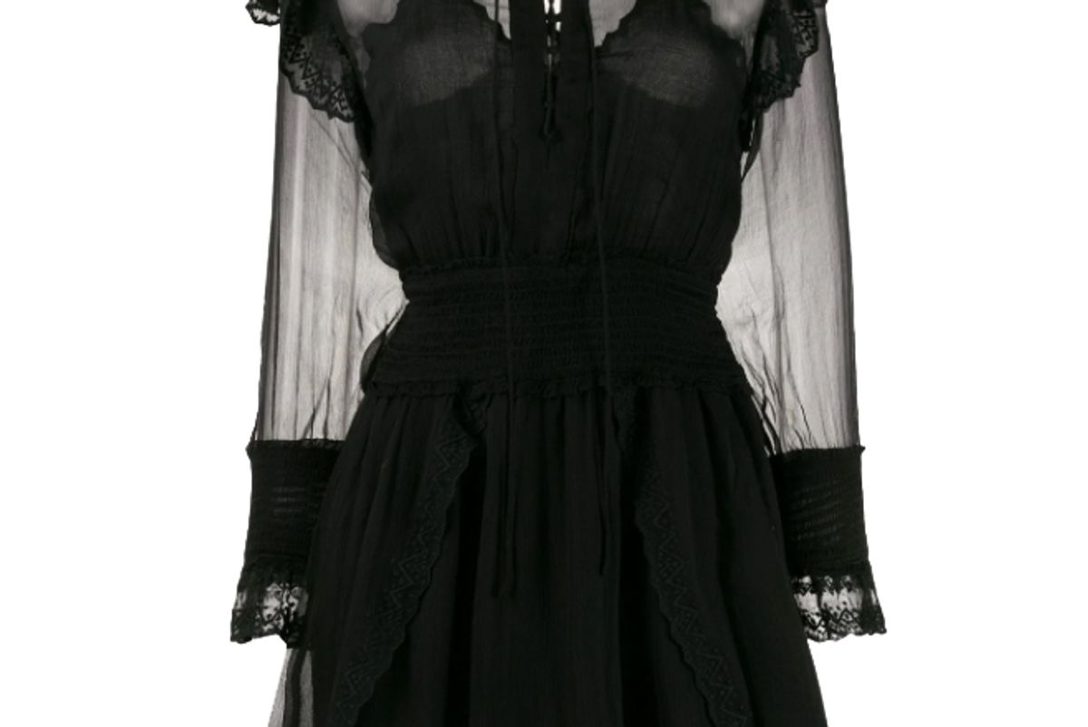 iro sheer panel mini dress