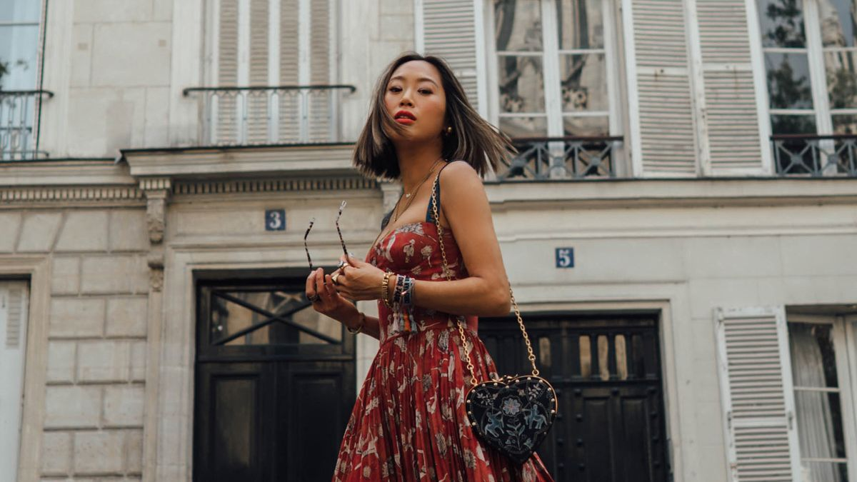 Why Aimee Song Skipped Heels and Wore Combat Boots to the Dior Show