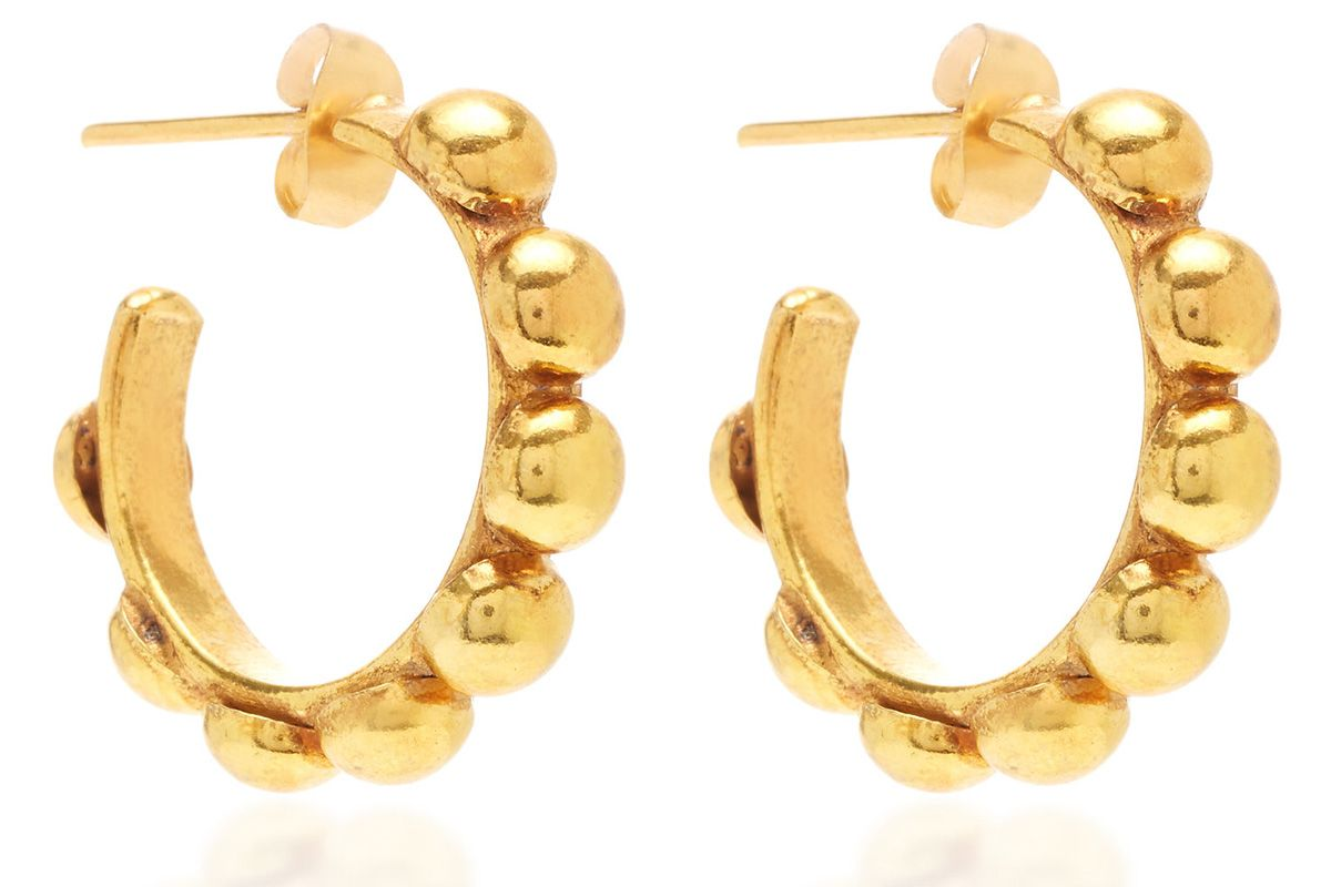 sylvia todaleno mini creole gold plated earrings