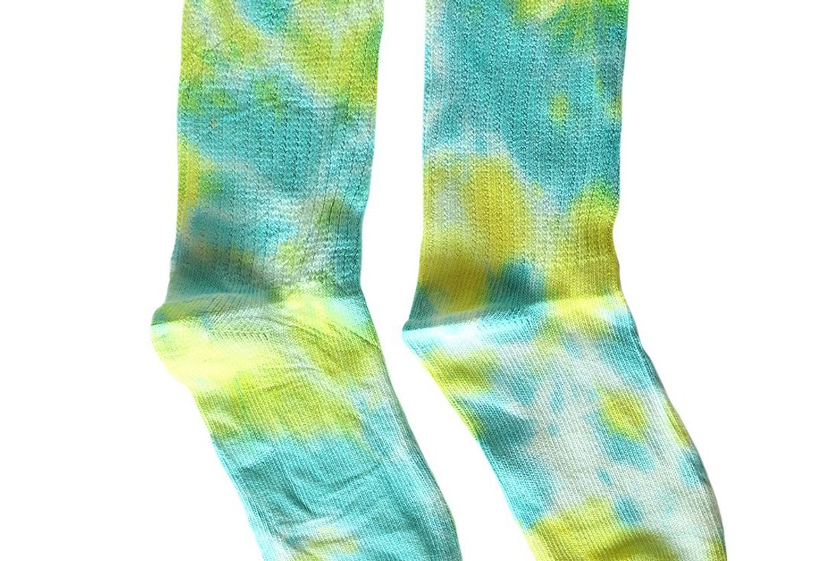 camp collection camp tie dye socks