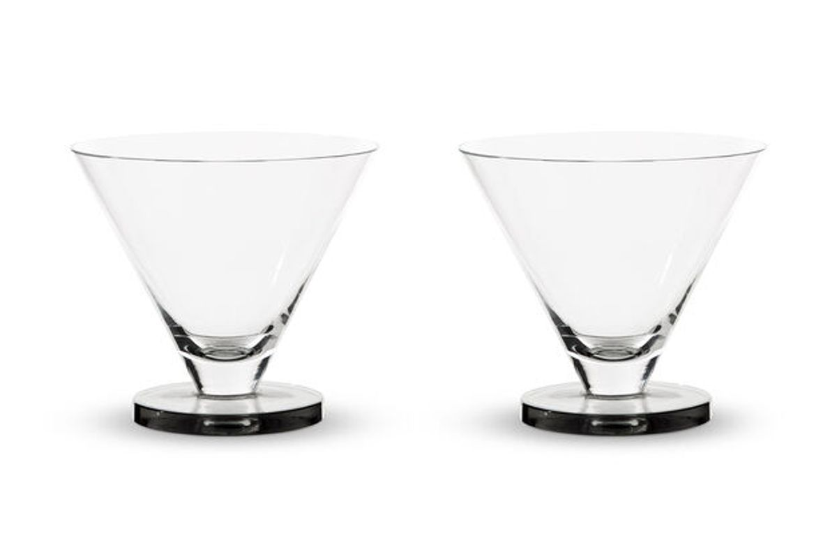tom dixon puck martini glasses