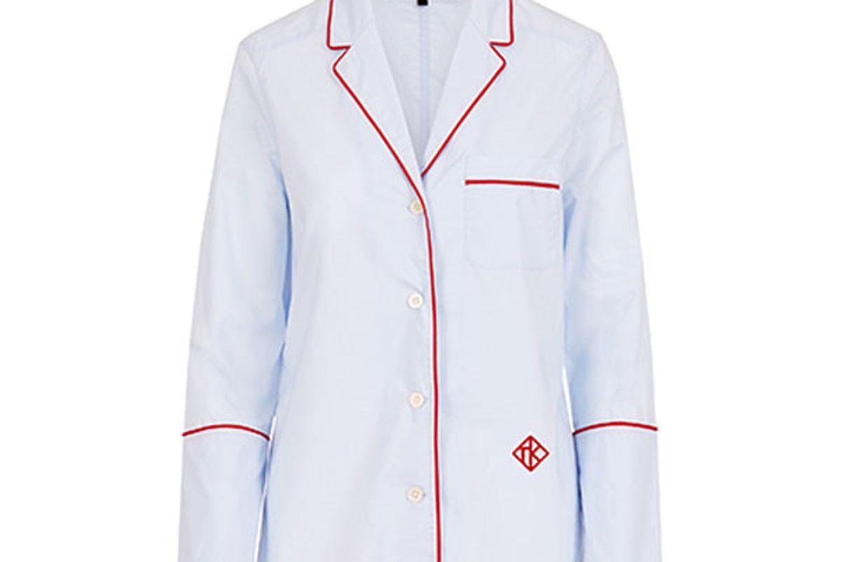Chambray Pajama Top