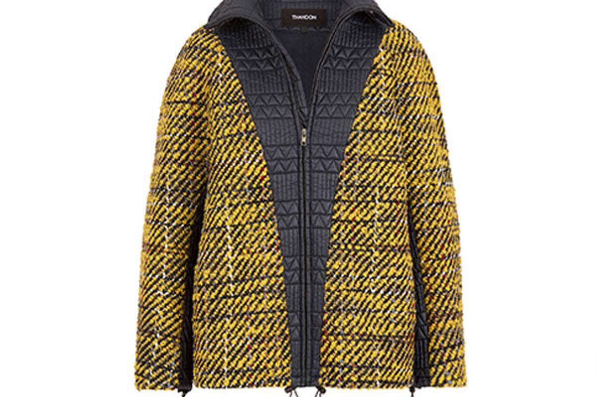Tweed Paneled Jacket